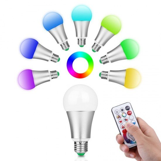 LemonBest 10W LED Bulb 120 Colors Dimmable with Remote