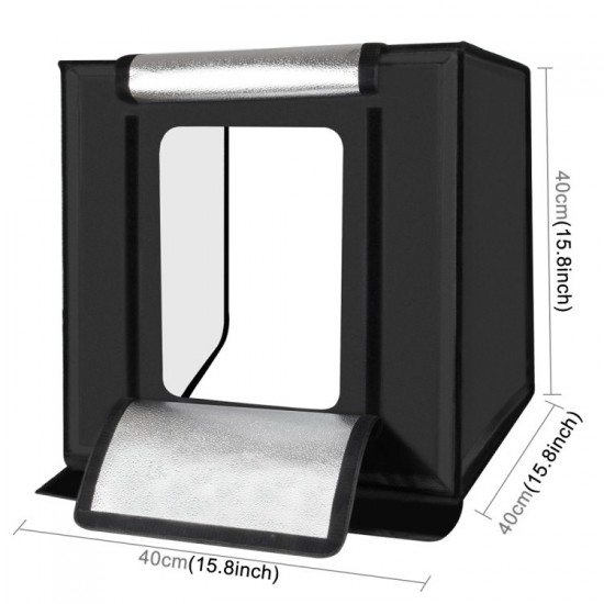PULUZ 16 inch Photo Lighting Studio with 6 Color Backgrounds