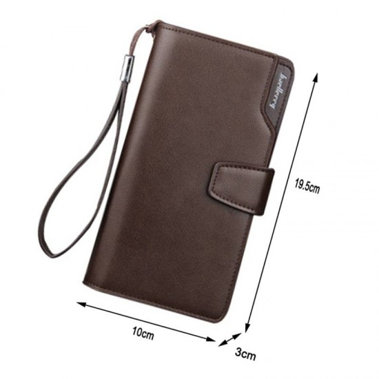 Baellerry Men's Long Phone Multi-Function Zipper Wallet