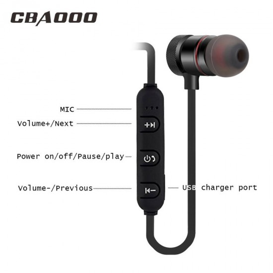 Magnetic Bluetooth Magnetic Stereo Sweat Proof Sports Earphones - C40