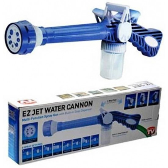 EZ Jet Water Cannon Easyjet Spray Gun For Car Wash - 8 in 1 Nozzle