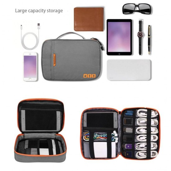Travel Organizer Electronics Accessories Bag Double Layer Water Proof