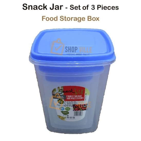 Snack Jar Food Containers - 3 Pieces Set