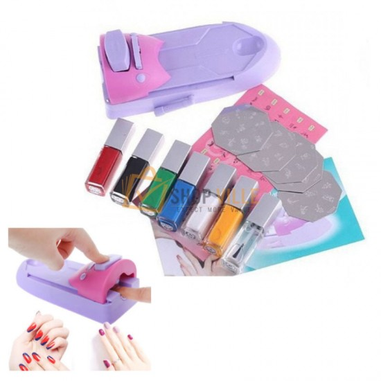 DIY Nail Art Printing Stamp Machine Set