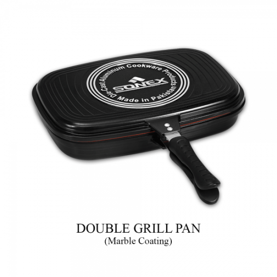 Sonex Marble Coated Double Sided Grill Fry Pan - 36 cm