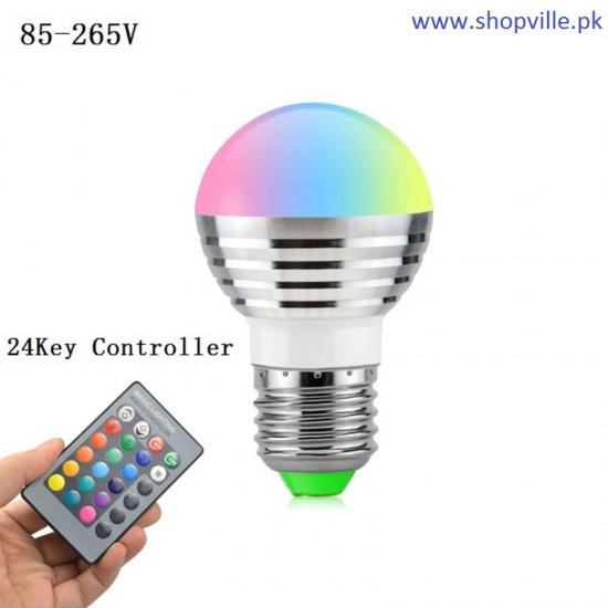 LED Bulb 5w RGB 16 Colors Changeable with IR Remote Control