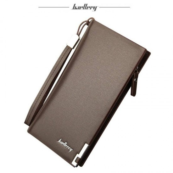 2019 Baellerry Men's Long Leather Wallet for Smart Phone Credit/Debit Cards etc
