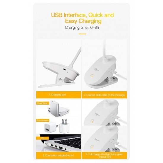 Yage Rechargeable USB LED Touch Switch Lamp -102